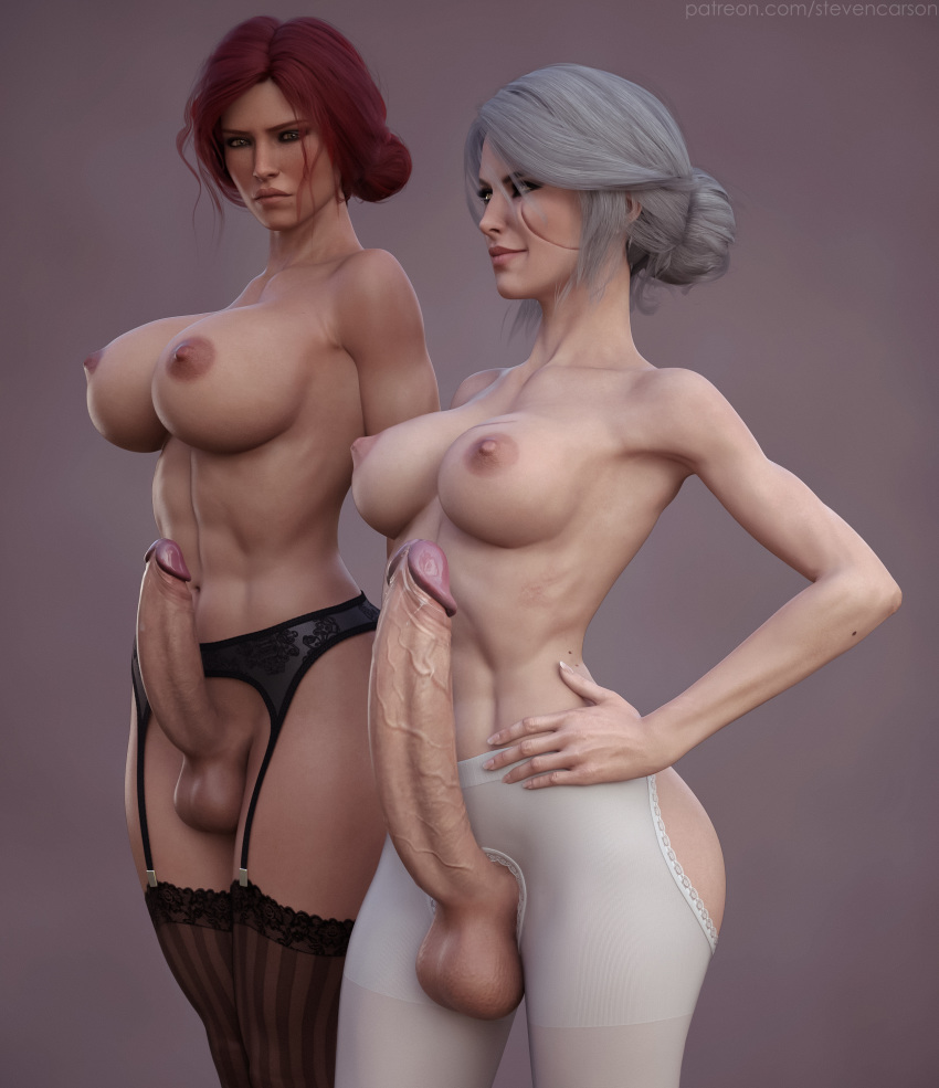 big tits futanari